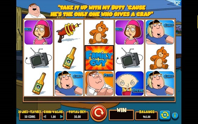 New Game from IGT - Family Guy