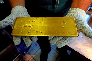 1 of the recovered gold bars