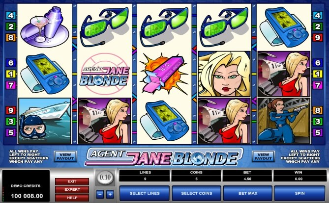 Agent Blonde Slots Game