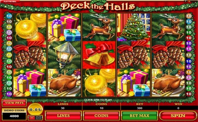 Deck the Halls video slots game