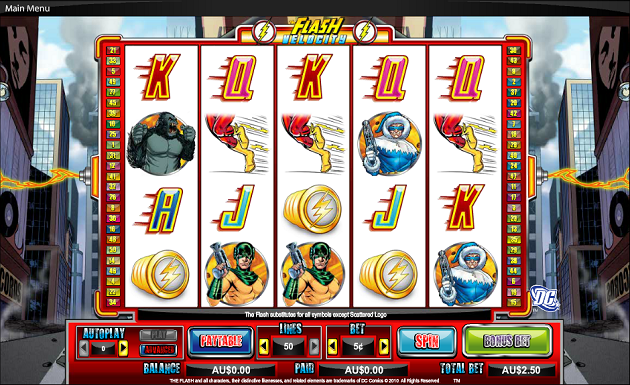 A new online slots game - The Flash