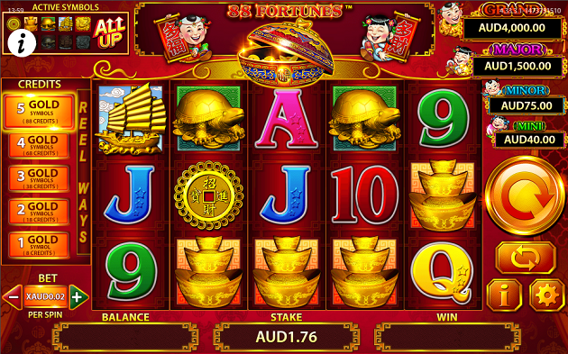 Play at 88 Fortunes Slot Game