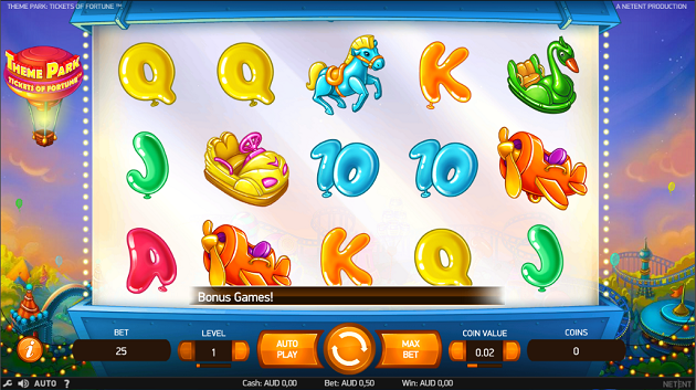 A new slots game from Netent - Theme Park Tickets of Fortune