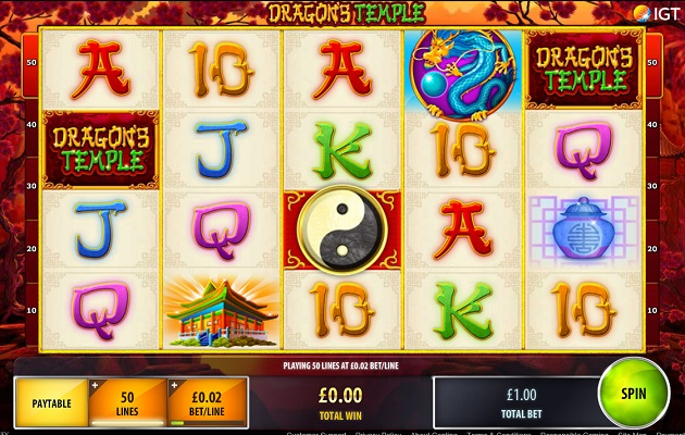 Dragons Temple slots game at Genting Casino
