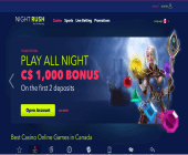 Nightrush Casino Homepage