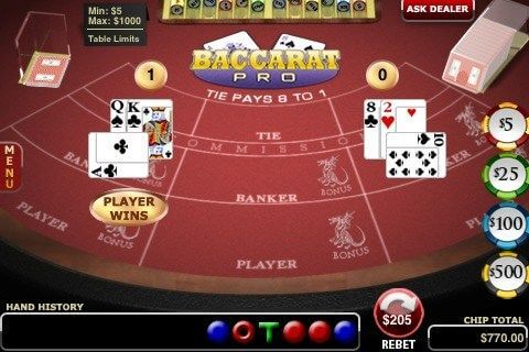Play Baccarat on your Iphone App
