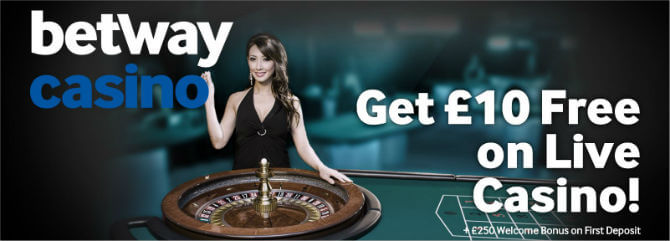 Betways Live Casino Offer
